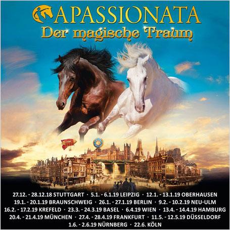 Apassionata Tourneeplan