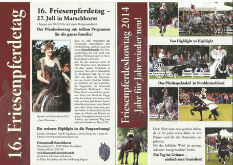 Bericht aus Friesenjournal 01/2014