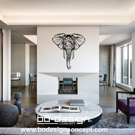 decoration elephant,Elefantendekoration,design,deco elephant,Wanddekoration Design, ethnique,decoration murale elephant,deco designer,deco interieur,deco design,tete d'elephant,deco animaux,decoration murale design,