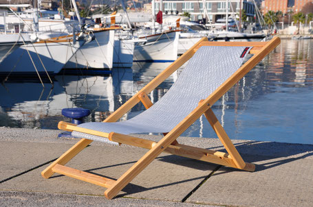 Sedia A Sdraio Tessuto : Sedie e sdraio in legno in tessuto da vela velman sails