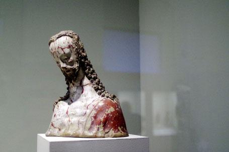 Schmerzensmann, Spanien 16. Jhd., Terrakotta mit alter Fassung, Veröffentlichung des Fotos mit freundlicher Genehmigung des Museums