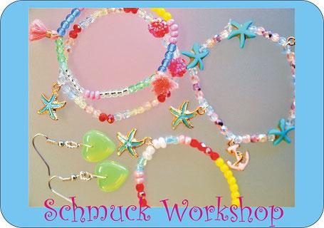 Schmuck Workshop im Perlenreichen Perlenladen für Kinder 7, 8, 9 Jahre