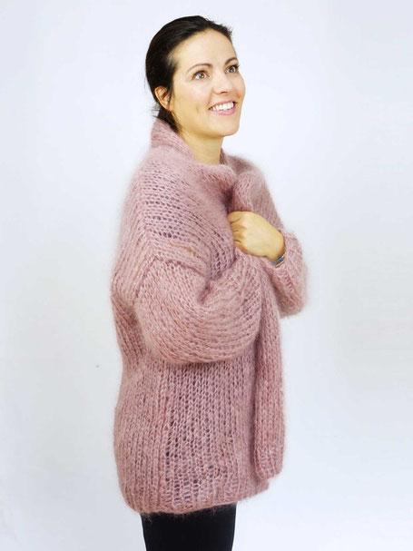 Wooltwist Strickset für Anfänger für Oversize Strickjacke aus Mohair