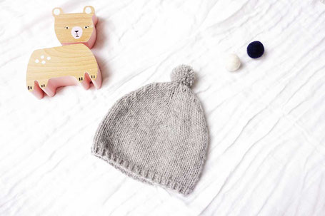 Babymütze selberstricken mit Strickset von Wooltwist