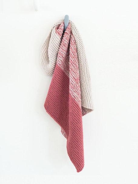 Babydecke aus Merino Stricken für Anfänger mit Wooltwist Strickset