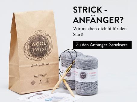 Leichte Stricksets für Anfänger von Wooltwist