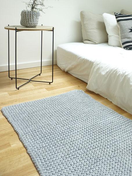 Teppich aus Textilgarn, Strickset für Anfänger von Wooltwist