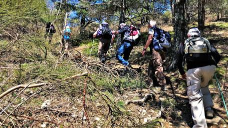 Randos Canétoises en rando Découverte à Fontfrède vers le pic de la Saline et le refuge le 17 avril 2018