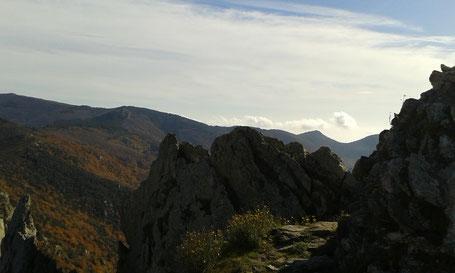 Randos Canétoises vers le pic de saint Christophe et le col de Llinas au départ de Montesquieu des Albères le 23 novembre 2017