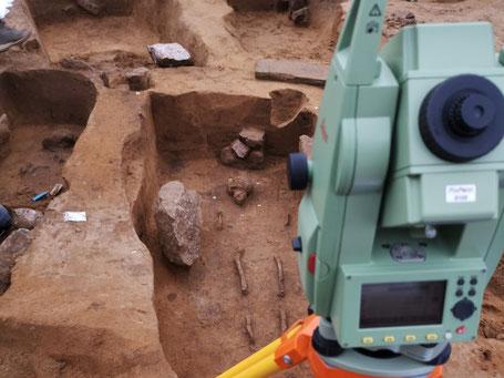 tachymetrische Vermessung Archäologie