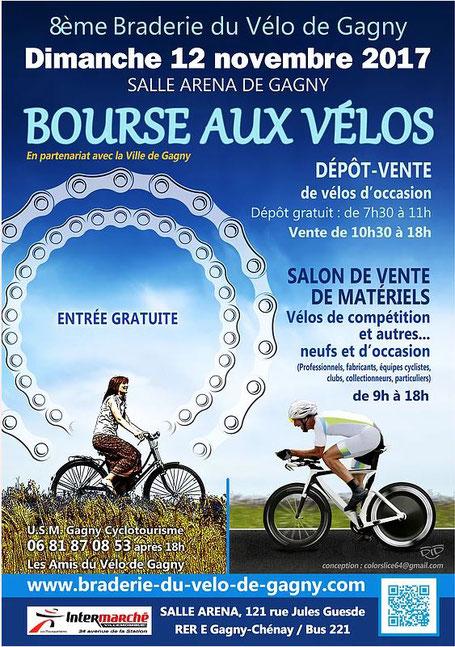 affiche bourses aux vélos