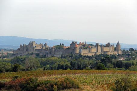 Die komplett erhaltene mittelalterliche Stadt Carcassonne