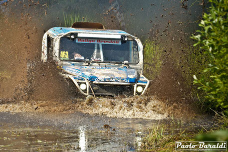 Romain Porchere and Christian Fraisse second at Breslau Poland Car Extreme