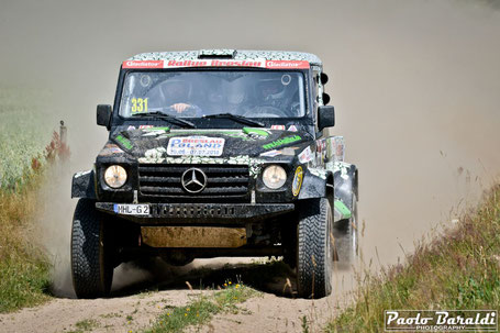 Frank Stensky and Tobi Henschel (D) winners Breslau 500 Car Cross Country