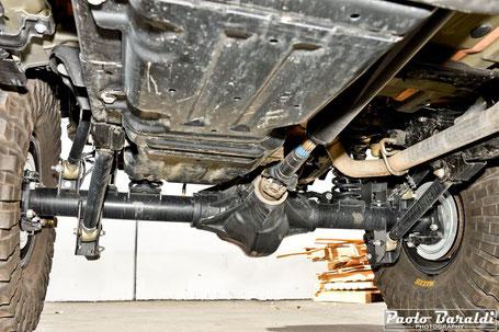 """Sospensioni posteriori +4"""" per Jeep Wrangler JL modello Extreme Overland realizzate da EVO Manufacturing"""