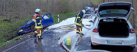 Tödlich endete der Unfall auf der L 3046 für einen jungen Mann aus Norddeutschland. (Foto: Fritsch)