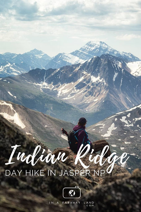 A visual description of the Indian Ridge hike. A challenging day hike starting at the top of the Jasper Skytram and one of the best day hikes in Jasper National Park in Canada.
