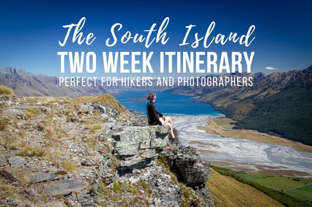 2 week self drive road trip itinerary around New Zealand's South Island