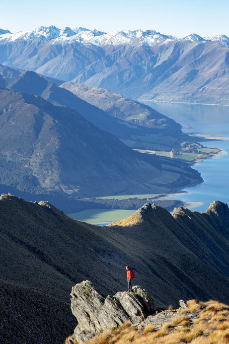 Isthmus Peak hike, New Zealand
