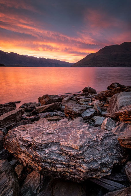 Sunrise over the Remarkables in Queenstown New Zealand