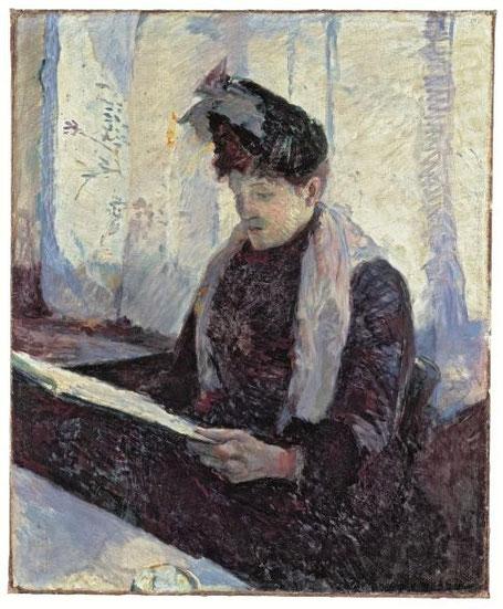 Tolouse Lautrec.Mujer en un café 1886.Obra temprana realizada con 22 años,instalado en Montmartre todavia influenciado por impresinismo,postimpresionismo, con ciertas huellas de Van Gogh.La luz desempeña un papel fundamental y con una iconografia renovada