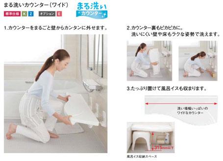 まる洗いカウンター(ワイド)