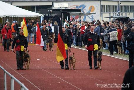 Deutsche Mannschaft bei der Mondioring WM in Virton, Belgien, 2009