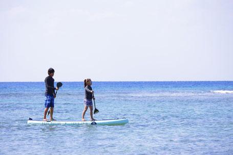カップルでSUP始めるなら宮古島の遠景写真です。