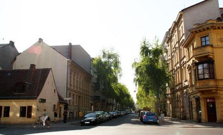 Historische Bebauung: eingeschossenes Bürgerhaus Haubachstrasse Ecke Wilmersdorferstrasse. Foto: Helga Karl