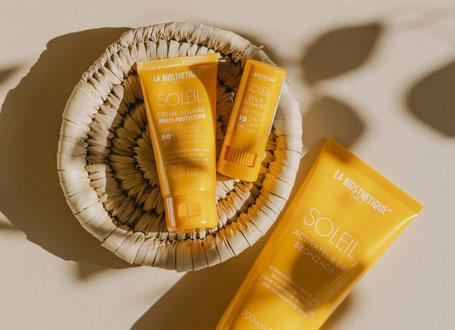 La Biosthetique Soleil, Sonnenschutzprodukte für Haut und Haar bei Coiffure Vogue in Aarau