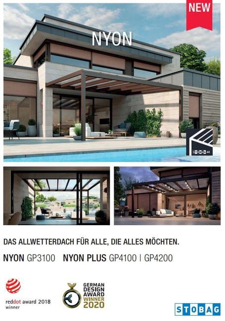 Stobag NYON GP3100 I NYON PLUS GP4100 I GP4200,Glasdach, Glasdachsystem, Beschattung, Wintergarten, Storen