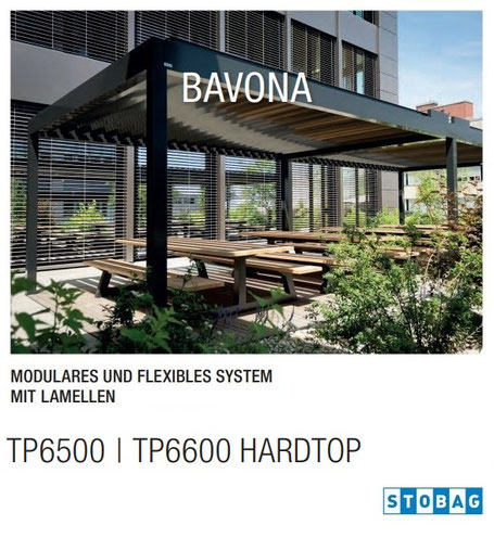 Stobag BAVONA TP6500 I TP6600 Hardtop, Lamellendach, Pavillon, Terrassendach