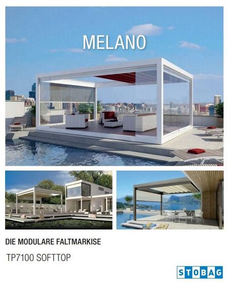 stobag melano TP7100 Softtop, Pavillon, Pergola, Pergolen, Markisensystem