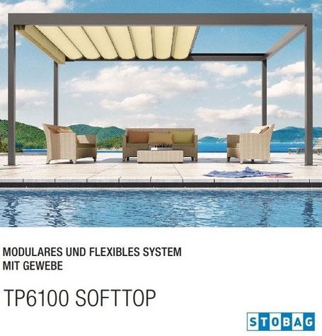 stobag BAVONA TP6100 Softtop, Pavillon, Pergola, Pergolen, Markisensystem