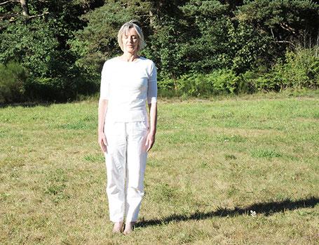 équilibre sur côté gauche- préparation posture arbre