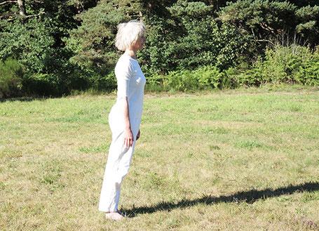 équilibre en avant - préparation posture arbre