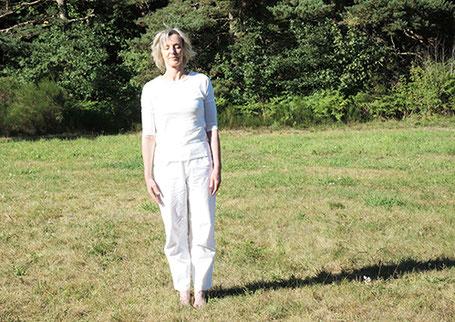 équilibre sur côté droit- préparation posture arbre