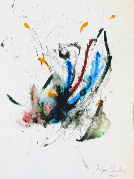 Lib H 75  peinture encre sur papier format 50/70