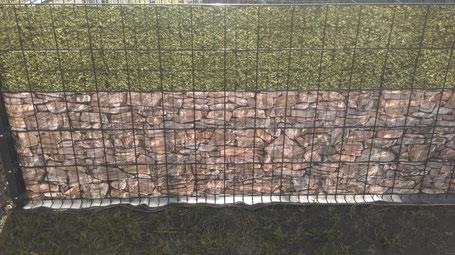 Sichtschutzstreifen Toskana + Buchsbaum