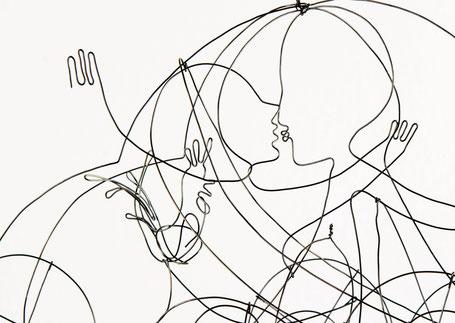 'Love Car' - Drahtobjekt - Heike Wanner