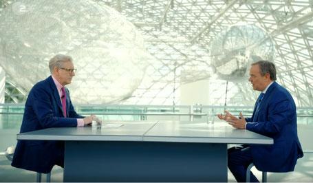 CDU-Kanzlerkandidat Armin Laschet hat im im ZDF-Sommerinterview am 25. Juli 2021