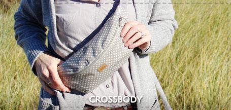 Julia Design Tasche Bauchtasche crossbody Stofftasche wasserabweisend