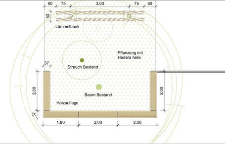 Illustration neue Sitzgelegenheiten auf dem Schulhof der EKRS
