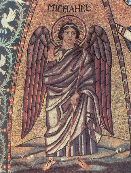 Hl. Michael -Mosaik in Sant'Apollinarein Classe;  Ravenna, 6. Jhdt