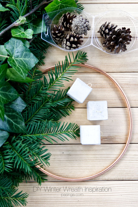 DIY Winter Wreath Tutorial By PASiNGA blog