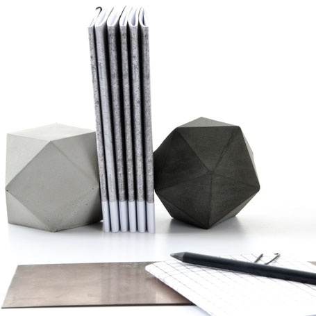 Geometric Concrete Sculptures & Solids by PASiNGA