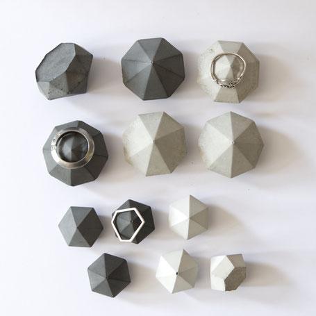 Mixed Diamond Ring Holder, Set of 6 by PASiNGA design