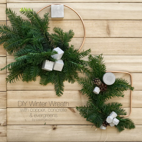 DIY Winter Wreath Tutorial By PASiNGA Design
