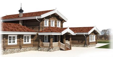 норвежский дом из лафета,проект норвежского дома