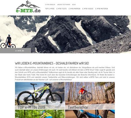 e-MTB.de - Neues Portal für alle e-Mountainbiker